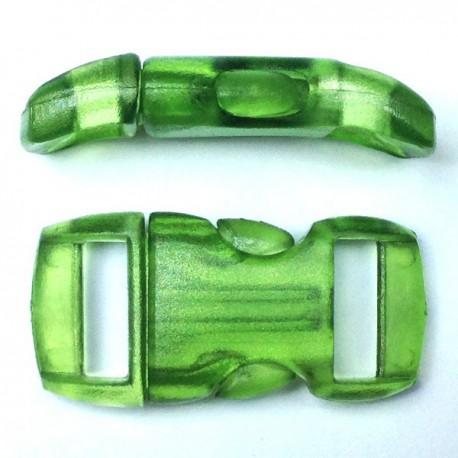Boucle cristal 15mm verte clair