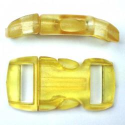 Boucle cristal 15mm jaune