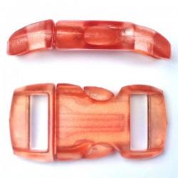 Boucle cristal 15mm orange