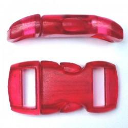 Boucle cristal 15mm rouge