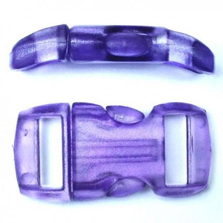 Boucle cristal 15mm violette