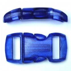 Boucle cristal 15mm bleu