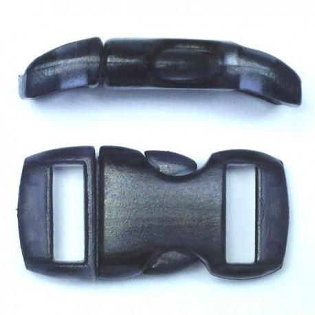 Boucle cristal 15mm noire