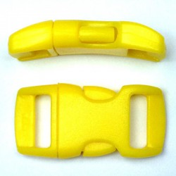 Curved Side Release Buckle 15mm Yellow