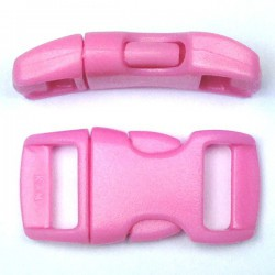 Curved Side Release Buckle 15mm Pink