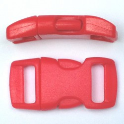 Curved Side Release Buckle 15mm Red