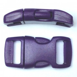 Curved Side Release Buckle 15mm Purple