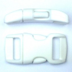 Curved Side Release Buckle 15mm White