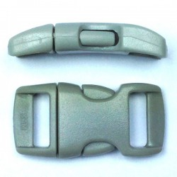 Curved Side Release Buckle 15mm Grey