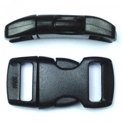 Curved Side Release Buckle 15mm Black