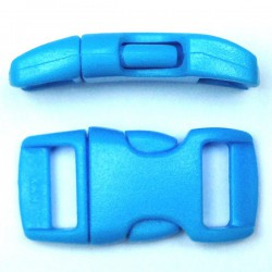 Curved Side Release Buckle 15mm Light Blue