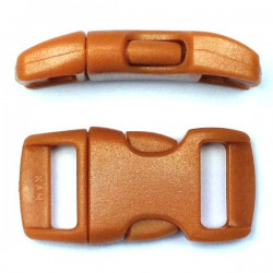 Curved Side Release Buckle 15mm Brown