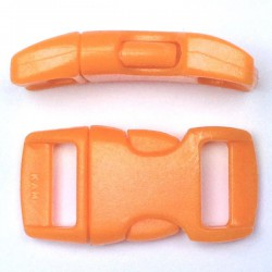 Curved Side Release Buckle 15mm Orange