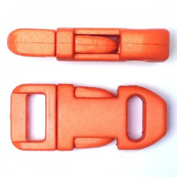 Straight Side Release Buckle 15mm Orange