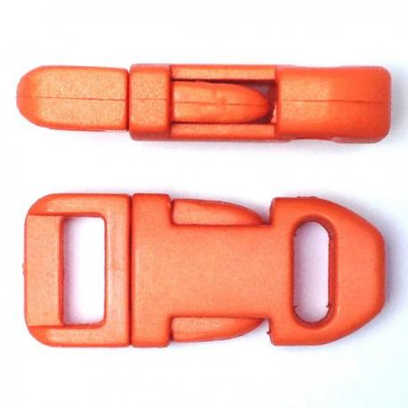 Straight Side Release Buckle 15mm Orange