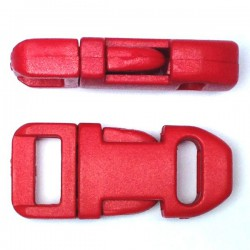 Straight Side Release Buckle 15mm Red