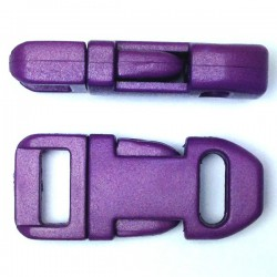 Straight Side Release Buckle 15mm Purple