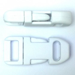 Straight Side Release Buckle 15mm White