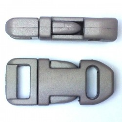 Straight Side Release Buckle 15mm Grey