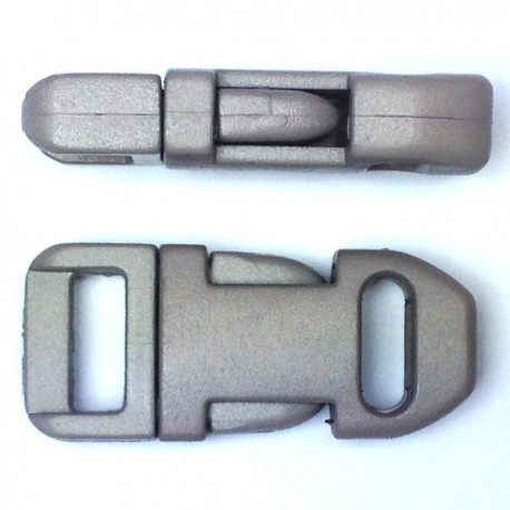 Straight Side Release Buckle 15mm Grey