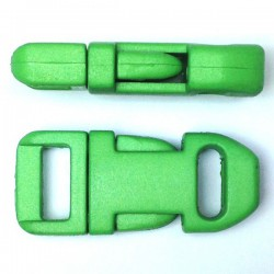Straight Side Release Buckle 15mm Green