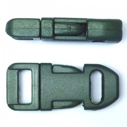 Straight Side Release Buckle 15mm Kaki