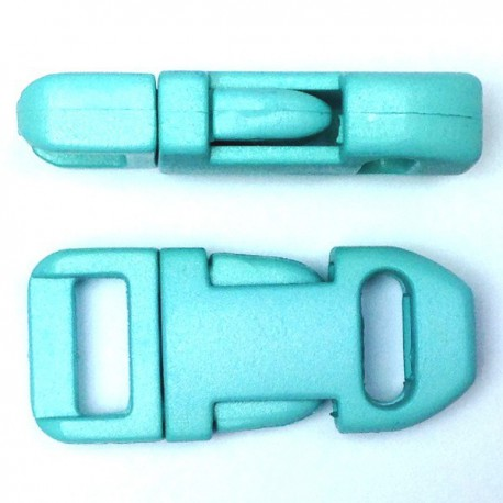 Straight Side Release Buckle 15mm Turquoise