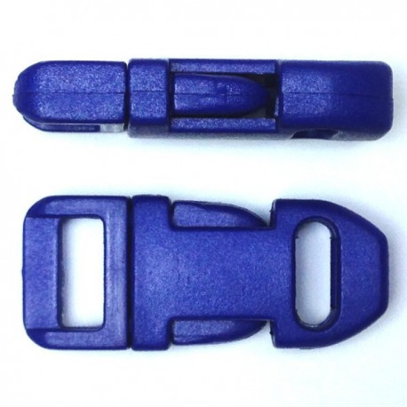 Straight Side Release Buckle 15mm Blue