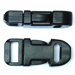 Straight Side Release Buckle 15mm Black