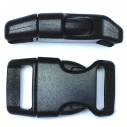 Curved Side Release Buckle 23mm Black