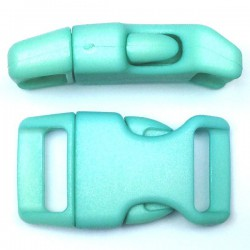 Curved Side Release Buckle 23mm Light Turquoise