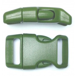 Curved Side Release Buckle 23mm Military Green