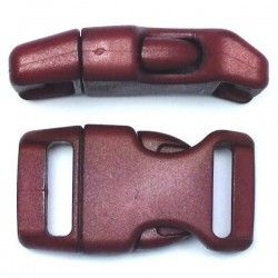 Curved Side Release Buckle 23mm Chocolate