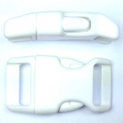 Curved Side Release Buckle 23mm White