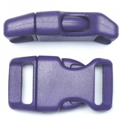 Curved Side Release Buckle 23mm Blue Purple