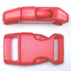 Curved Side Release Buckle 23mm Red