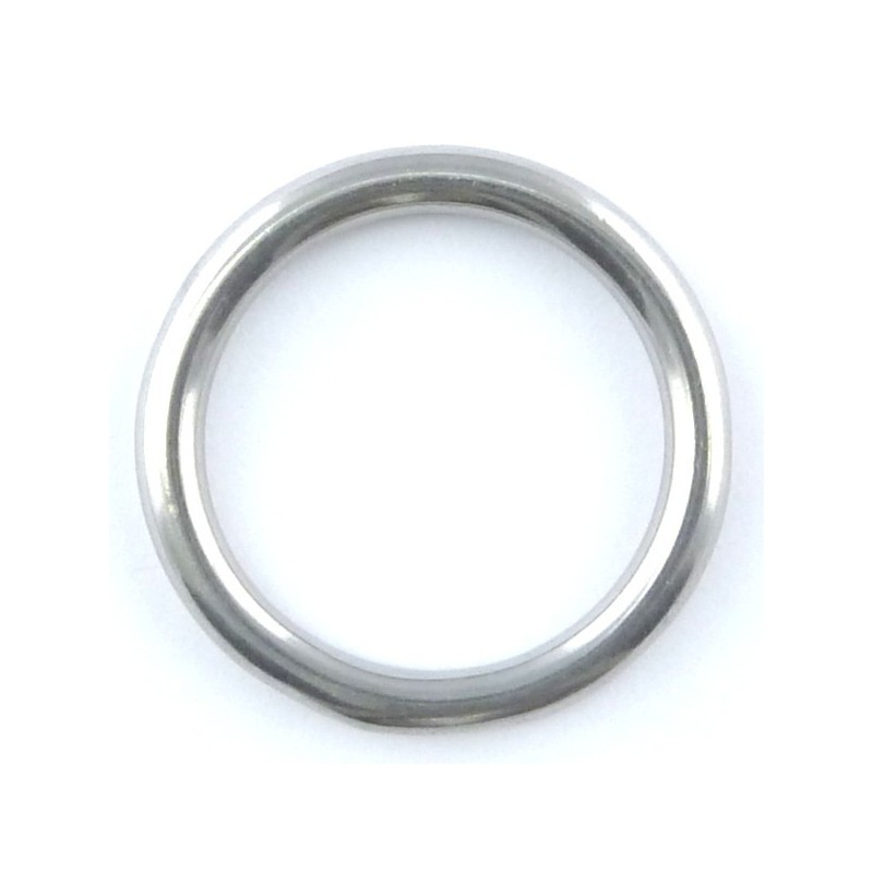Stainless steel ring welded polished