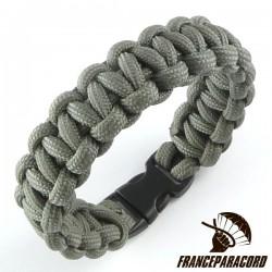 Bracelet paracord Cobra uni avec boucle rapide