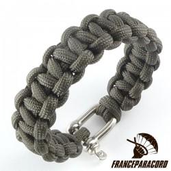 Bracelet paracord Cobra uni avec manille inox