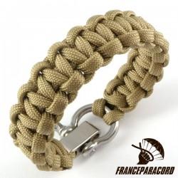 Bracelet paracord Cobra uni avec manille réglable