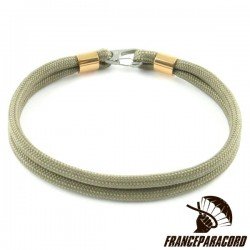 Bracelet Simple Avec Mousqueton Clip Inox 15mm