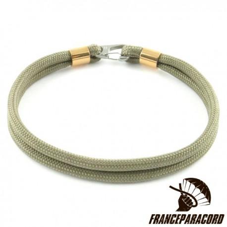 Bracelet Simple Avec Mousqueton Clip Inox 15mm