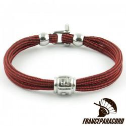 Bracelet Classique avec perles convexes et mini manille 2mm