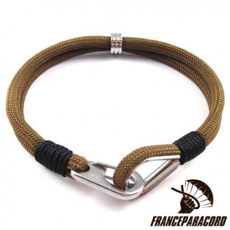 Bracelet Classique Avec Mousqueton Clip & Cosse Coeur