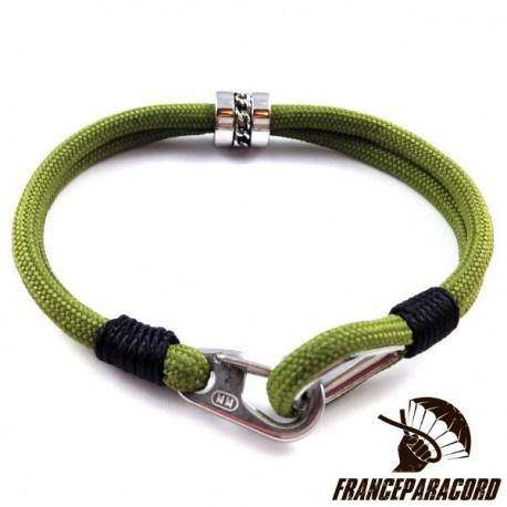Bracelet Spartan Avec Mousqueton Clip & Cosse Coeur