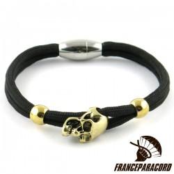 Bracelet Tête de mort Charm fermoir magnétique