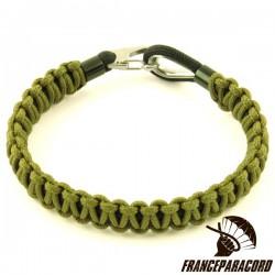 Bracelet Cobra type 100 avec cosse coeur & clip inox