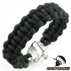 Bracelet Cobra uni avec mousqueton de drisse