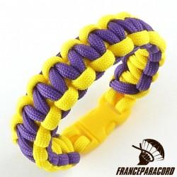 Bracelet paracord Cobra bicolore avec boucle rapide