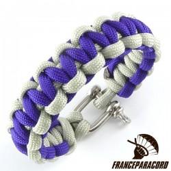 Bracelet paracord Cobra bicolore avec manille inox